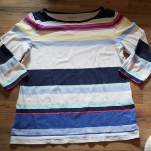 Talbots 3/4 sleeve Top SZ M